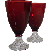 "Set of 2: Anchor Hocking Royal Ruby Boopie 4 1/2"" Stems"