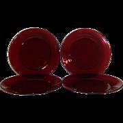 """SET OF 4:  Royal Ruby Salad Plates (7 5/8"""")"""