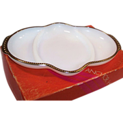 Anchor Hocking Milk White Oblong Relish Dish