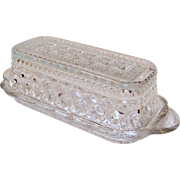Crystal Clear Wexford Covered Butter Dish