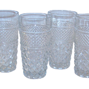SET of 4 Crystal Clear Wexford Tall Beverage Glasses