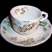 Antique Alfred Meakin of England Demitasse Cup & Saucer Sets  Dresden Hopfen Pattern