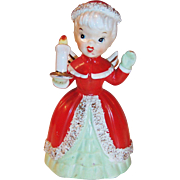NAPCO Christmas Angel Bell Spaghetti Trim with Candle