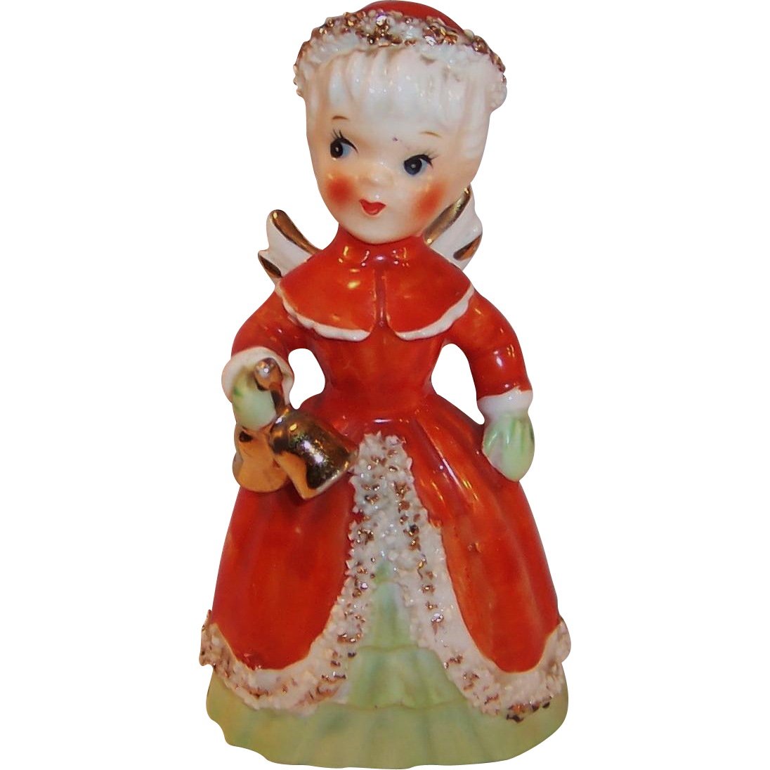 NAPCO Christmas Angel Bell Spaghetti Trim Holding Bells