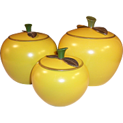 HOT Summer Sale!  Golden Delicious Apple Canister Set