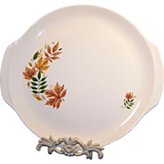 Large Salem China Autumn Leaves Platter