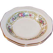 "Baronet China: ""Plaza"" Rimmed Fruit / Berry Bowls 5 1/2"""
