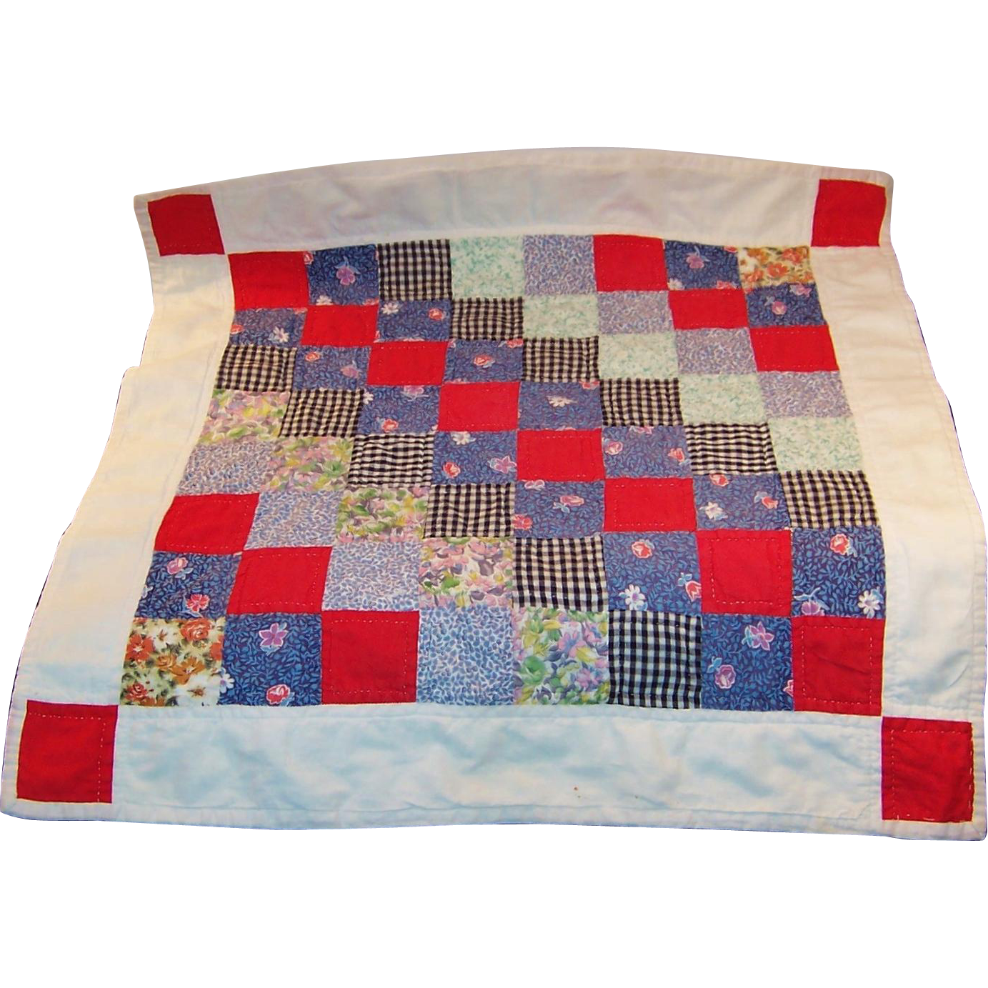 Vintage Hand Crafted Baby Doll Patchwork Quilt