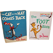 "Two Dr. Seuss Classics: ""The Cat in the Hat Comes Back"" © 1958  & ""The Foot Book"" © 1968"