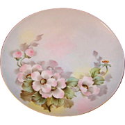 Pink Floral Bohemian Cabinet Plate