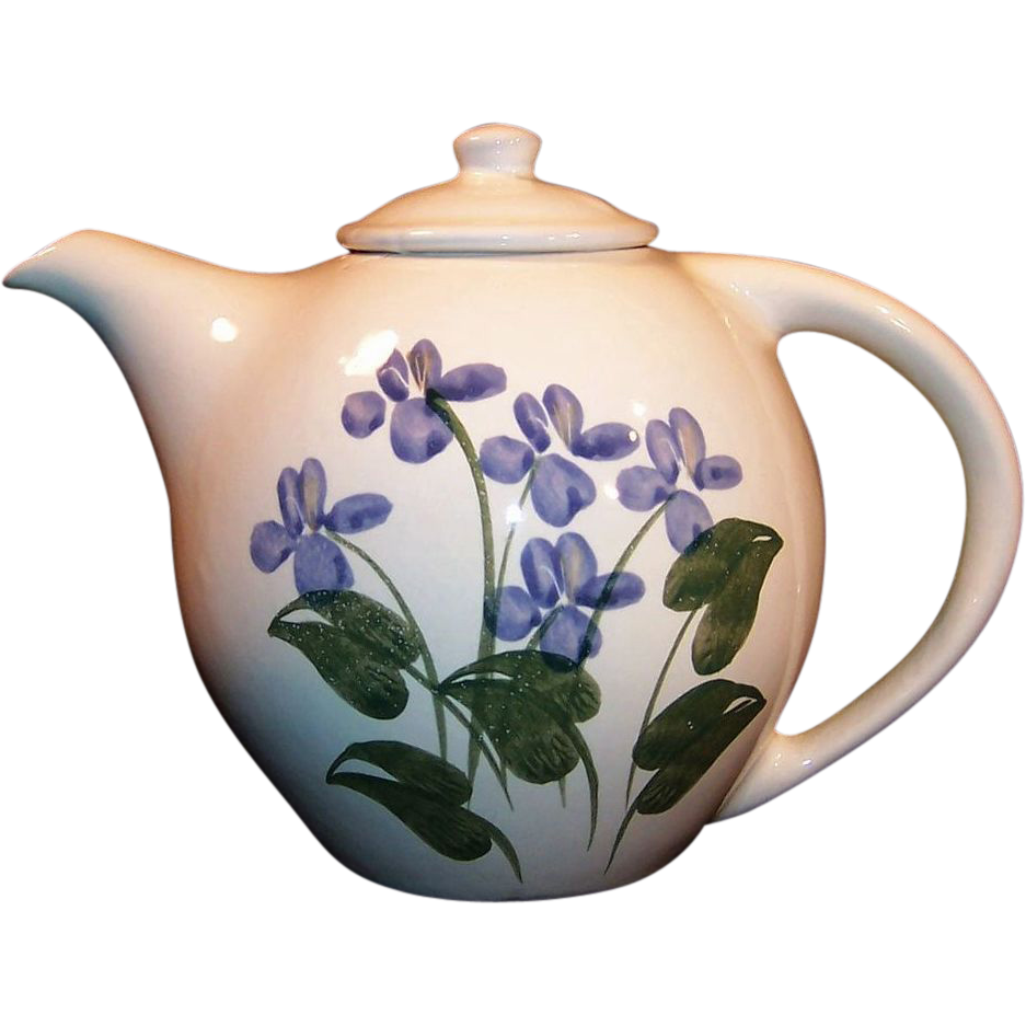 Blue Forget Me Not Emerson Creek Pottery Teapot