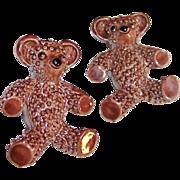 Vintage Brown Bear Enamel Scatter Pins