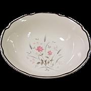 Midcentury Pink Rose Serving Bowl