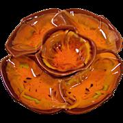 Flaming Orange California Pottery Lazy Susan