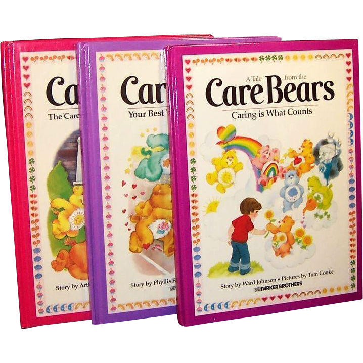 Original 1980's Care Bears Large Books (Set of 3)