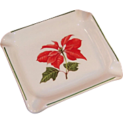 Cuthbertson Christmas Poinsettia Ashtray