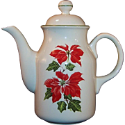 Cuthbertson Christmas Poinsettia Coffee Pot