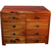 Large Cedar Eight Drawer Jewelry Chest