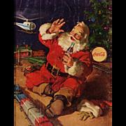 1962 Large Coca Cola Coke Santa Ad