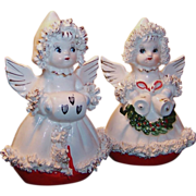 Japan Christmas Angel Shakers Spaghetti Trim