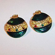 Fun Vintage Christmas Ornament Earrings