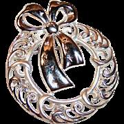 Danecraft Signed Christmas Wreath Pin