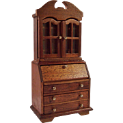 Dollhouse Wood Secretary Desk Hutch