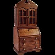 Dollhouse Wood Secretary Desk Hutch
