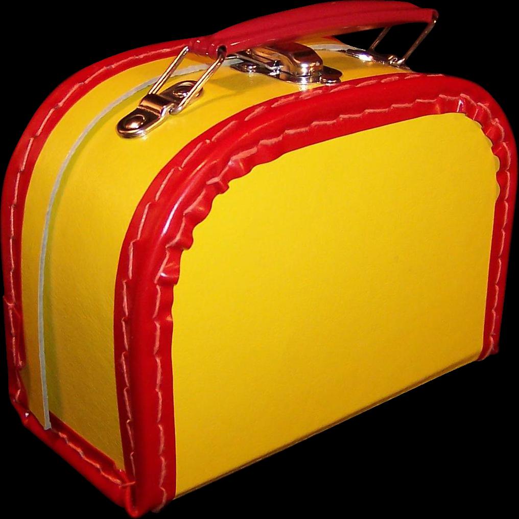 Vintage Doll Suitcase Travel Case