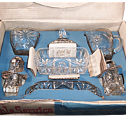 Early American Prescut (Star of David) 7 Piece Table Service Set