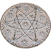 "13 1/2"" Large Early American Prescut (Star of David) Serving Platter"