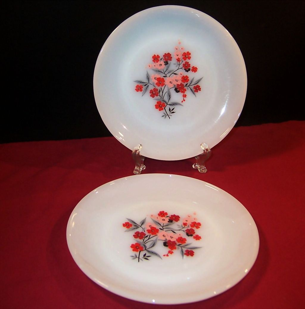 SET of 2: Fire King Primrose Salad (Luncheon) Plates