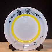 "Hazel Atlas Gay 90's Dessert  /  Breakfast 7"" Plate"