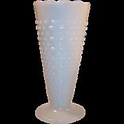 Fire King Hobnail Trumpet Vase