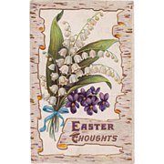 "C. 1913 Antique ""Easter Thoughts"" Postcard"