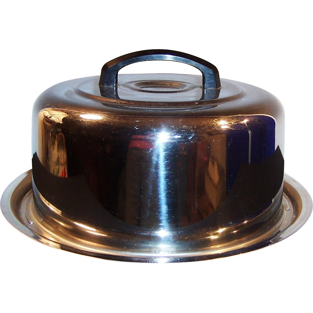Everedy Mid-Century Chrome Cake Carrier / Keeper / Holder / Saver