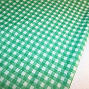 "2 1/4 Yards x 60"" ~ 1960's - 70's Vintage Polyester Checked Fabric"