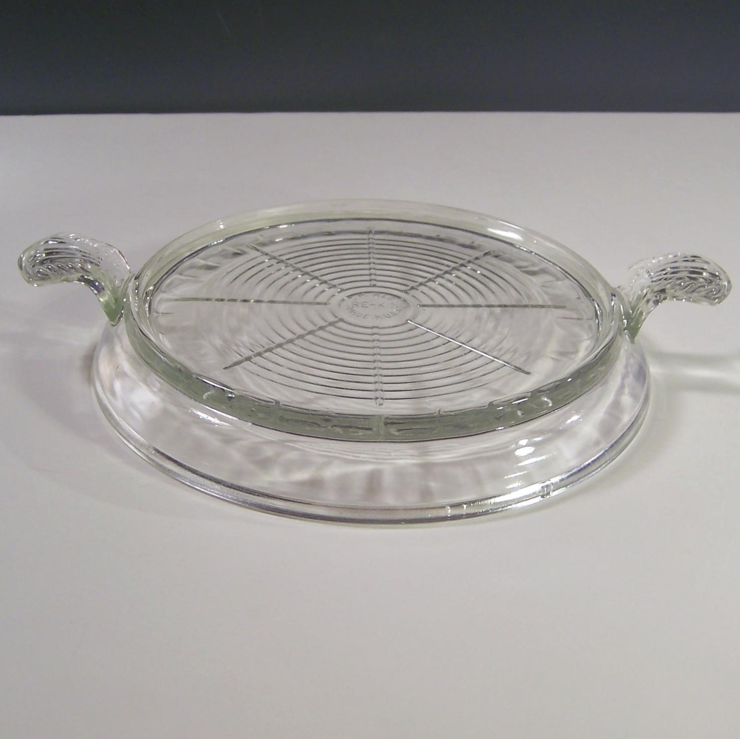 Fire King Clear Cake Pan