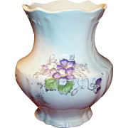 Victorian Columbia Violet Brush Holder or Vase.