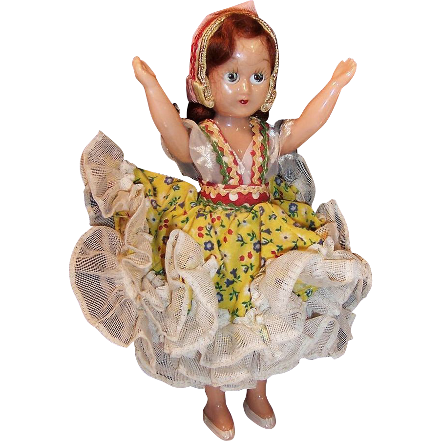Vintage Sleepy Eyed Costume Doll