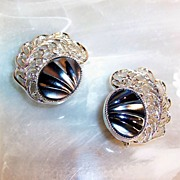 Sarah Coventry Royal Plumage Earrings
