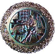"Fenton Carnival Glass ""Craftsman in America Series"" No. 6 Colonial Silversmith (Paul Revere)"