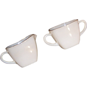 Anchor Hocking Charm Milk White Creamer & Sugar