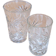 Your Choice:  Hocking Oatmeal Pattern Tumbler or EAPC Star of David Tumbler