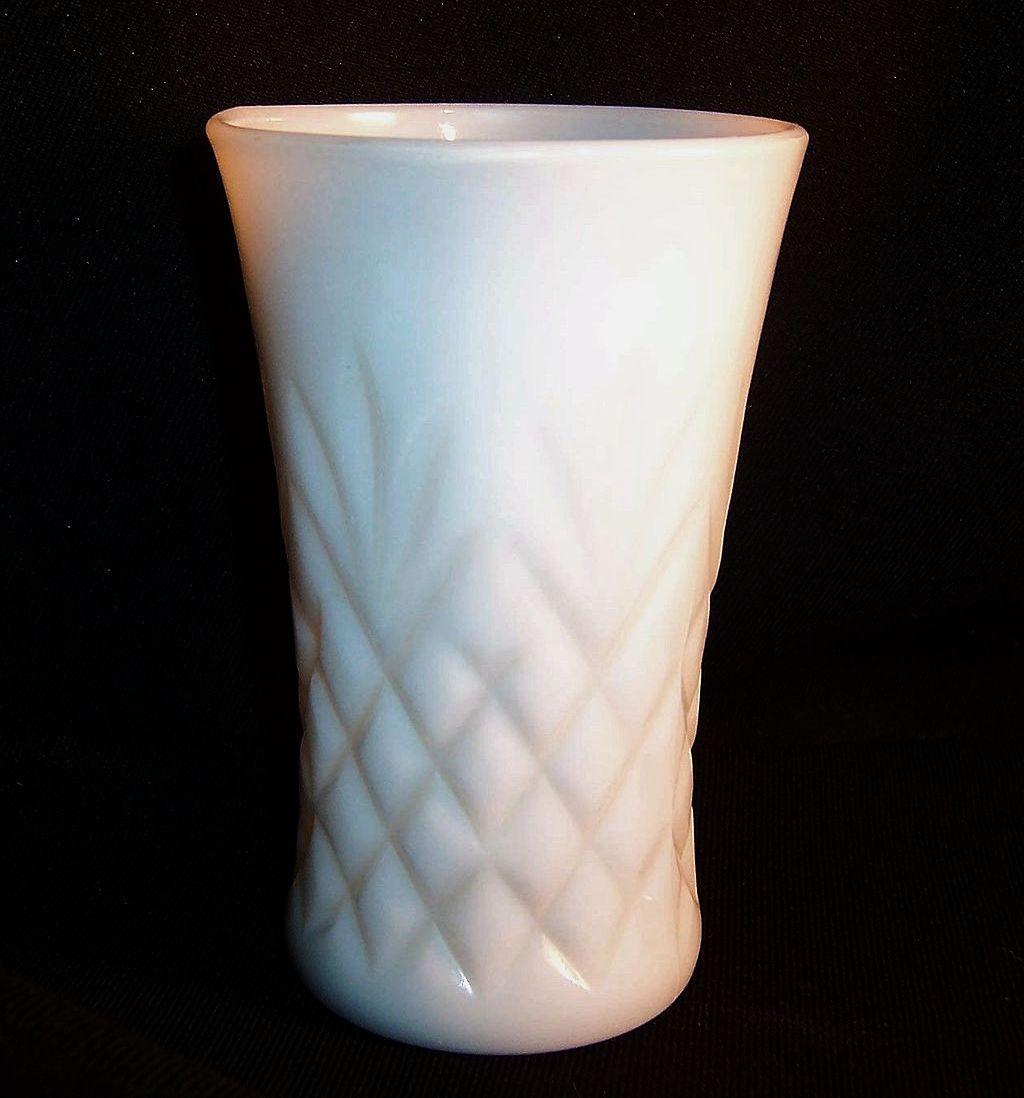 Anchor Hocking Milk Glass Pineapple Pattern Tumbler