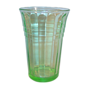 Hazel Atlas Depression Green New Century 4 OZ. Tumbler