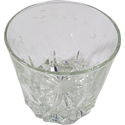 Vertically Cut Floral Etched Crystal Ice Bucket