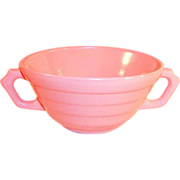 Hazel Atlas Moderntone Shell Pink Cream Soup Bowl