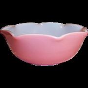"Hazel Atlas Pink Crinoline 5 3/8"" Cereal Bowl(s)"