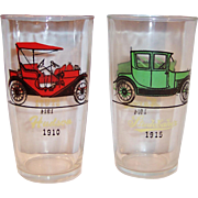 Hazel Atlas Antique Automobile Car Tumblers